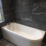 1700mm x 750mm Clean Line bath with soft, curved corner
